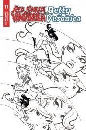 Red Sonja & Vampirella Meet Betty & Veronica #11 1:10 Parent B&w Cover