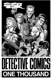Detective Comics #1000 Forbidden Planet 40th Anniversary Exclusive Brian Bolland B&W Variant