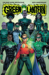 Green Lantern 80th Anniversary 100-Page Super Spectacular #1 1940s Variant Cover by Nicola Scott
