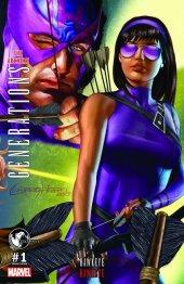 Generations: Hawkeye & Hawkeye #1 Greg Horn Connecting Cover