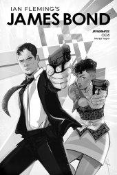 James Bond #6 1:10 Richardson B&w Cover