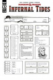 Dungeons & Dragons: Infernal Tides #3 Cover B Character Sheet