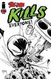Spawn Kills Everyone! #1 Mcfarlane.com Exclusive Black & White Cover