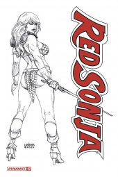 Red Sonja #17 1:20 Linsner B&w Cover