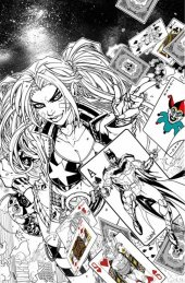 Justice League vs. Suicide Squad #1 KRS Comics Jonboy Meyers Black & White Variant