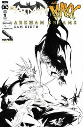Batman / The Maxx: Arkham Dreams #1 Albert Moy & Torpedo Comics Jae Lee Black & White Variant Cover