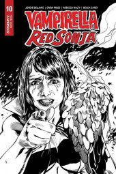 Vampirella / Red Sonja #10 1:15 Mooney B&w Homage Incentive