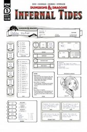 Dungeons & Dragons: Infernal Tides #5 Cover B Character Sheet