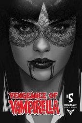 Vengeance of Vampirella #5 1:30 Oliver B&w Cover