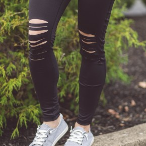 Distressed Stretch Leggings