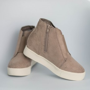 Beige Cream High Top Shoe