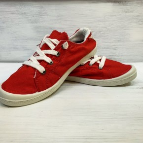 Red Cozy Slip Ons