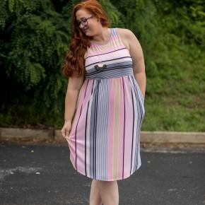 Sunny Stripes Midi Dress