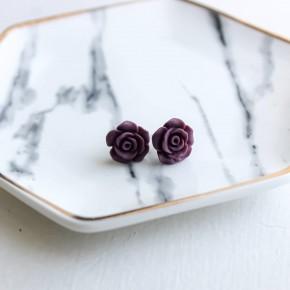 Fall Rose Stud Earrings