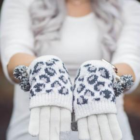 Snow Leopard Gloves