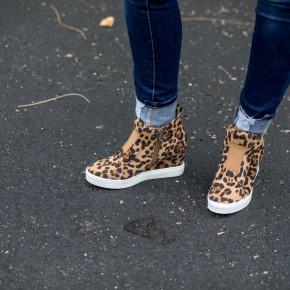 Zoe Leopard High Top Shoe