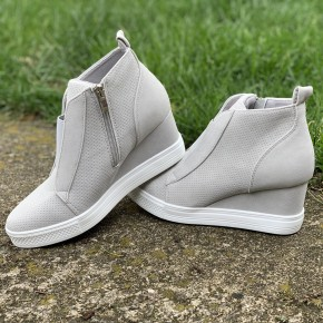 Grey Zoey Wedge Sneakers