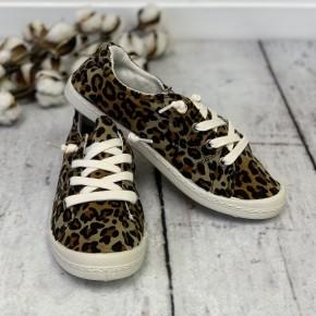 Leopard Cozy Slip Ons