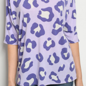 Plus Size Lilac & Purple Top