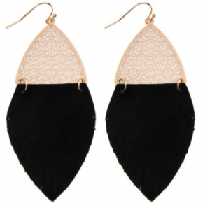 Filigree & Fringe Leather Earrings