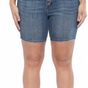 High Rise Exposed 4 Button Fly Shorts