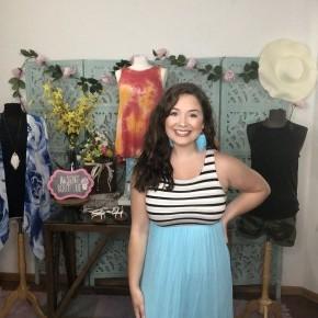 Stripe Color Block Maxi Dress