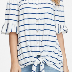 Off the Shoulder Ruffle Sleeve Top