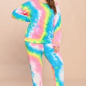 Tie-Dye Printed French Terry Jogger