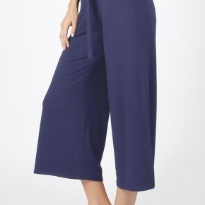 Cropped Lounge Pants - Navy