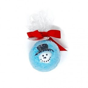 Snowman Bath Bomb with Toy Ring