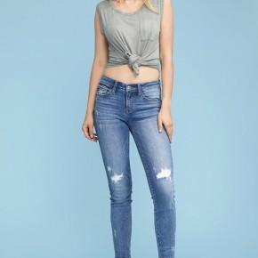 Judy Blue Destroyed Knee Skinny jeans
