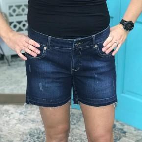 Ocean Release Hem Denim Shorts