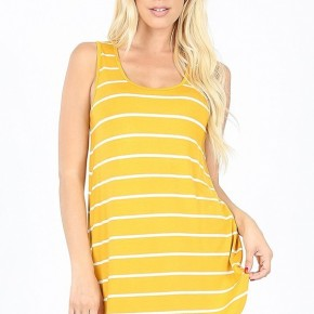 Striped Tank - Yellow