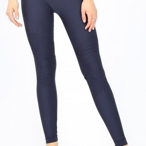 Navy Moto Leggings