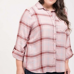 Ariel Plaid Top -Pink