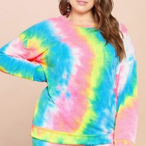 Tie Dye French Terry Long Sleeve Top