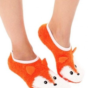 Fuzzy Animal Slipper Socks with Grips
