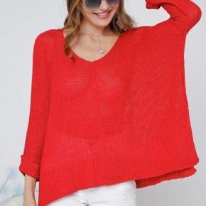 Kiss Me Under the Mistletoe Cherry Knit Sweater