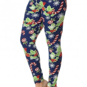 Candy Cane Noel Leggings