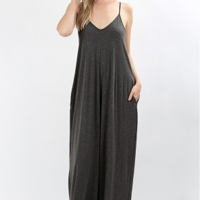 Mirabel Tank Maxi Dress - Grey