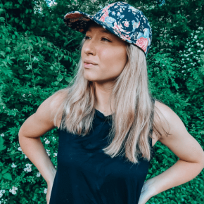 Black Floral Cap by Headbands of Hope