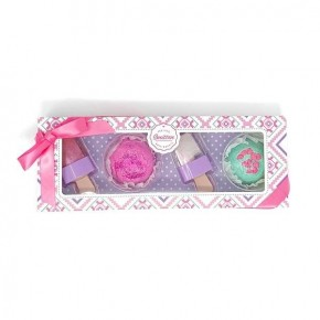 Sweet 4-Piece Treat Set - Bon-Bombs and Lip Gloss