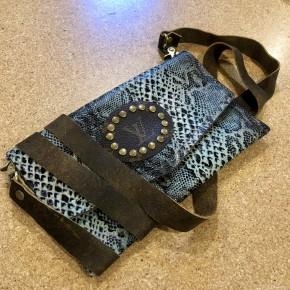 Handmade Crossbody LV Patch Bag