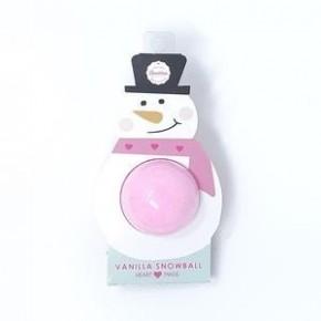 Pink Snowman Bath Bomb - Vanilla Snowball