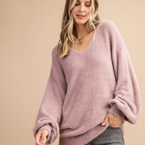 Furreal Soft V Neck Sweater