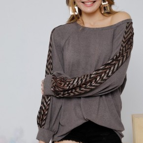 Hacci Zig-Zag Sequence Top