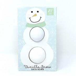 Double Snowman Bath Bomb - Vanilla Snow