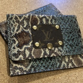 Handmade and Upcycled LV Wallet