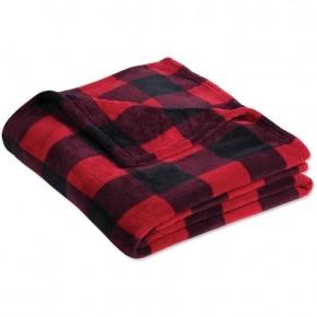 Perfectly Plush Plaid Blankets -  50 x 50