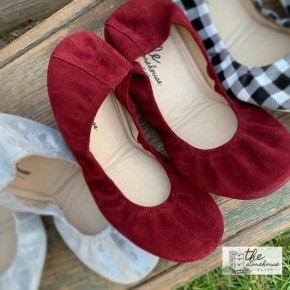 The Storehouse Flats - Wine: Suede Collection  *Pre-Order*